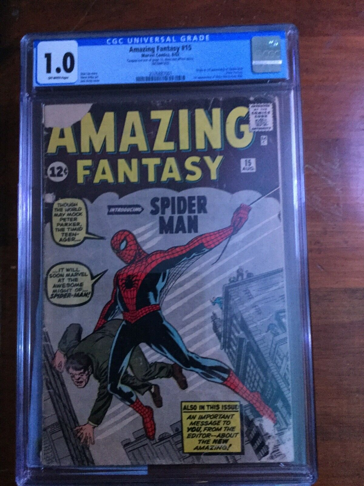 Amazing Fantasy 15 CGC 10 First appearance of SpiderMan