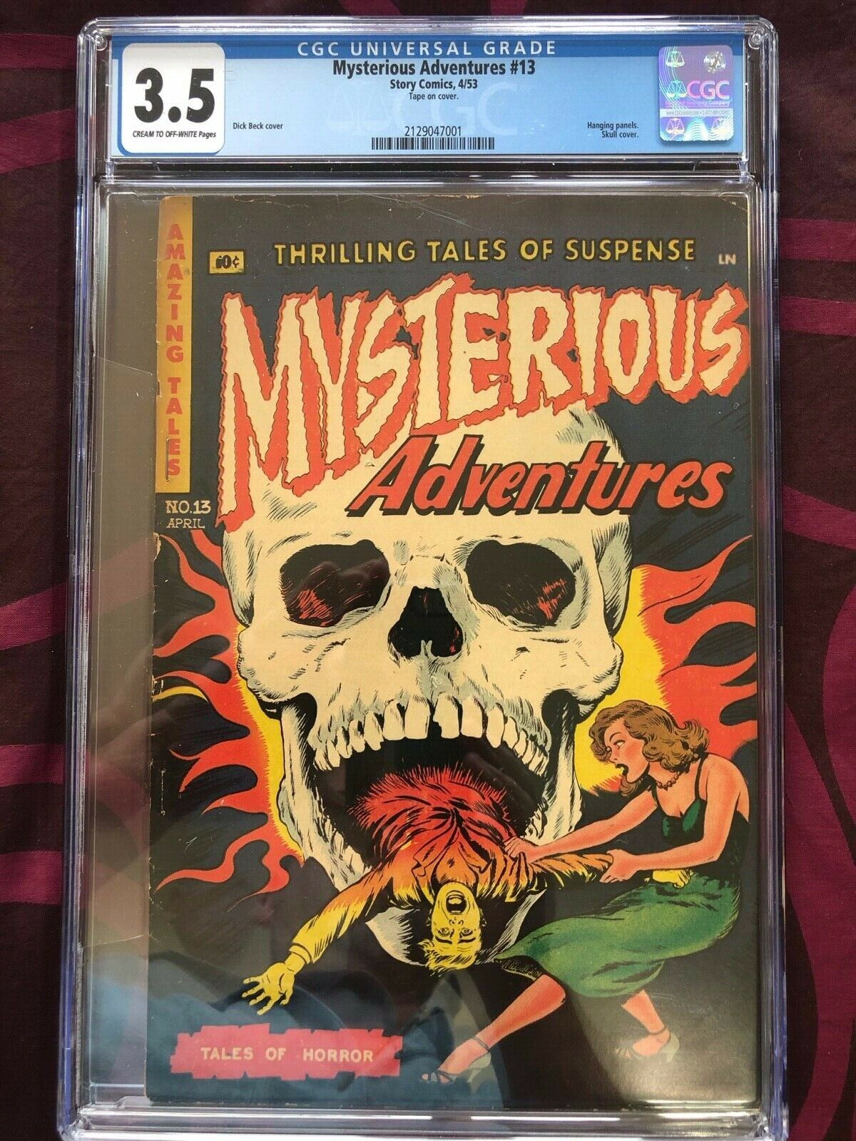 Mysterious Adventures Story 13 453  CGC Graded 35 Classic Skull Cover