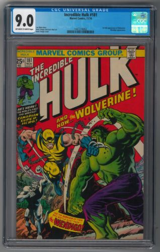 Incredible Hulk 181 CGC 90 Off White  White Pages 1st Wolverine XMen Bargain
