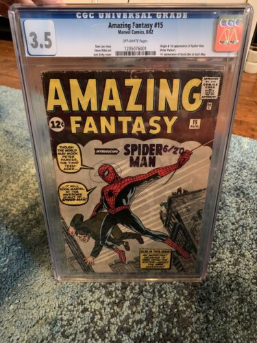 Amazing Fantasy 15 Marvel First Appearance Of Spiderman CGC 35 Off White
