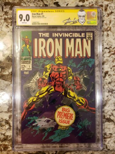 Iron Man 1 CGC 90 1968 Signature Series signed by Stan Lee