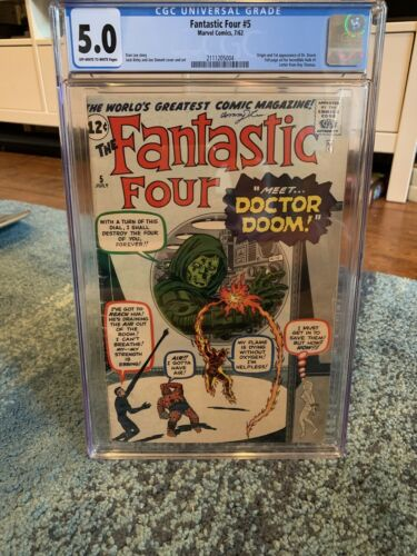 Fantastic Four 5 Marvel CGC 50 First Appearance Of Dr Doom