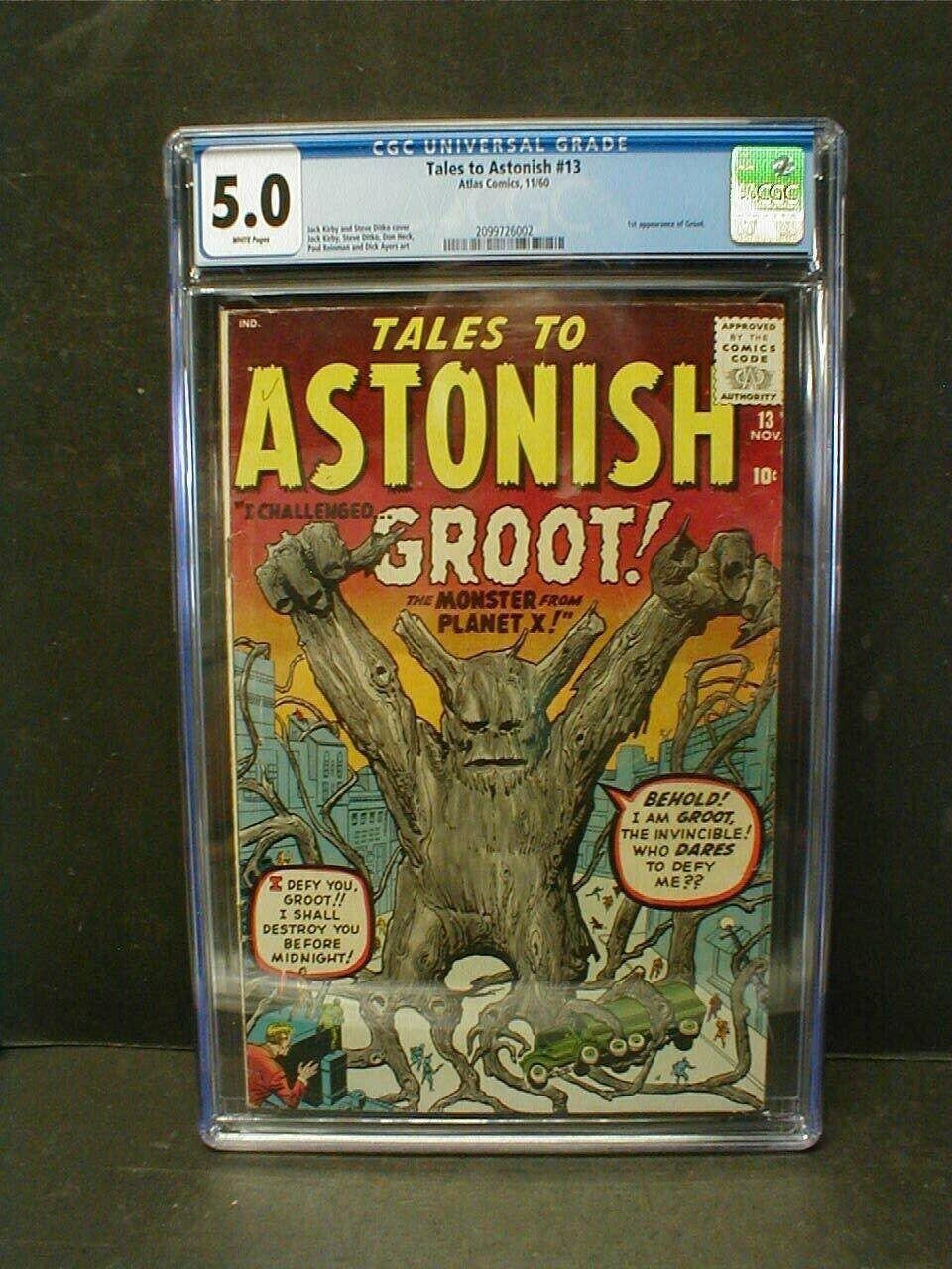 TALES TO ASTONISH 13 CGC 50   1st APPEARANCE of GROOT 1960 ATLAS COMICS