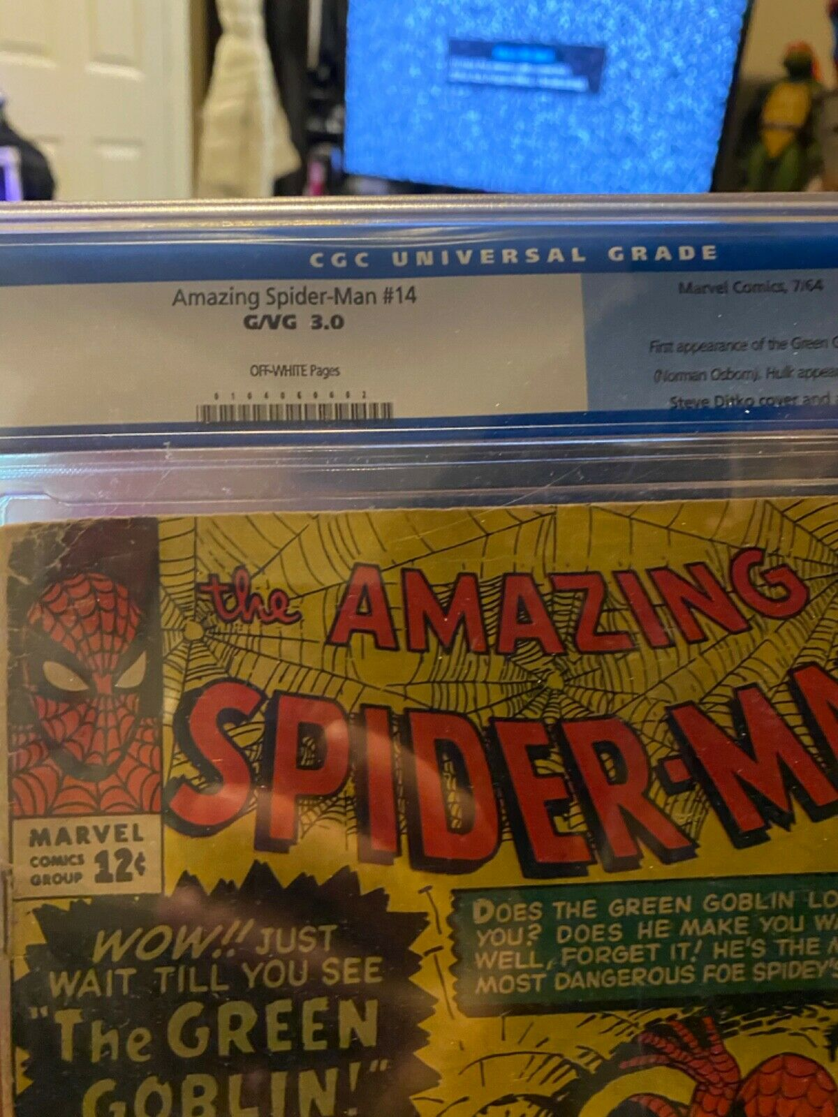 Amazing Spiderman 14 CGC 30 first appearance of the green goblin