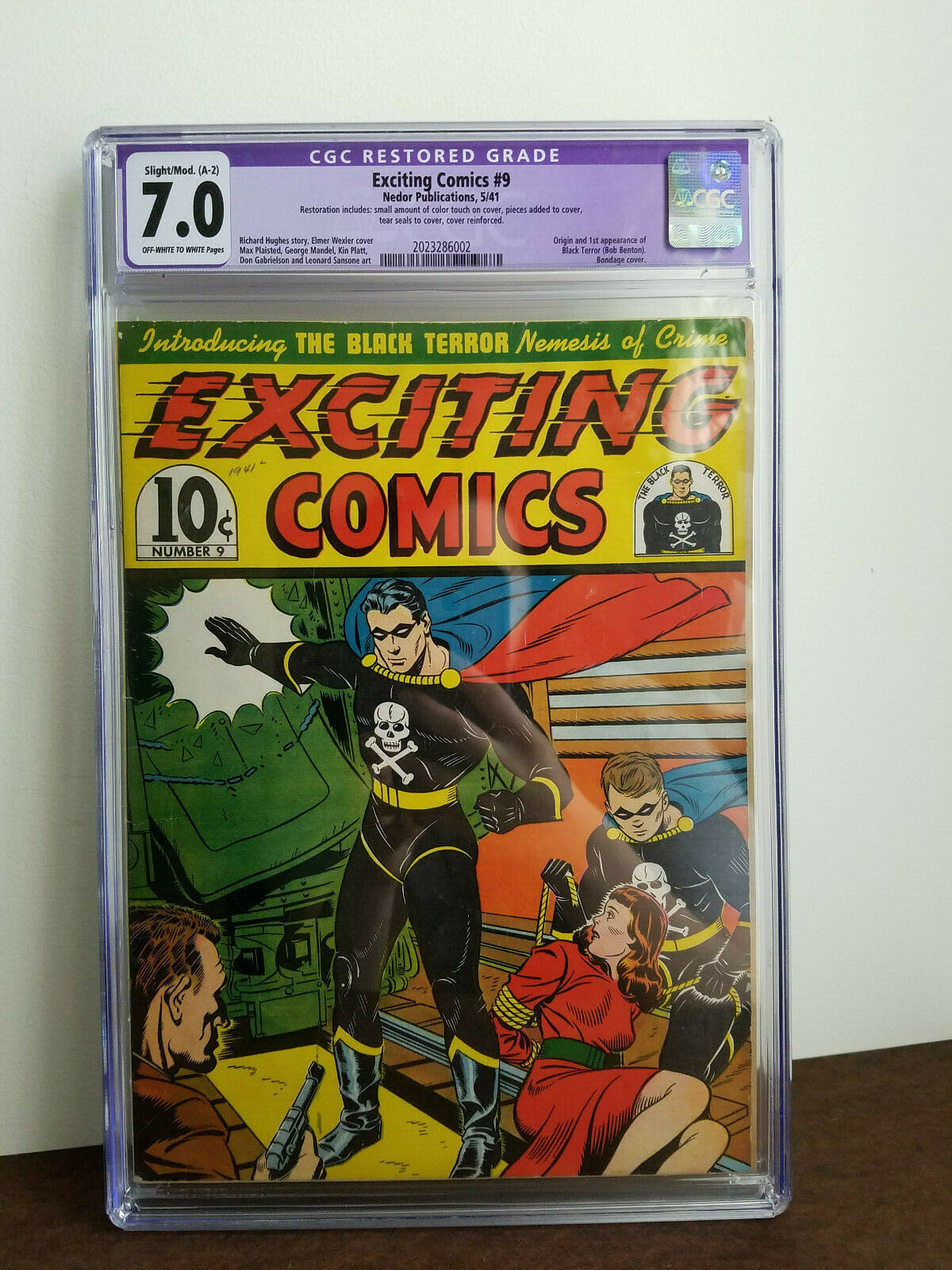 Exciting Comics 9 first Black Terror 1941 Extremely rare CGC 70 R