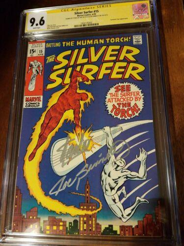 Silver Surfer 15 cgc ss 96 white vs Human Torch Stan Lee Sinnott Highest 1970