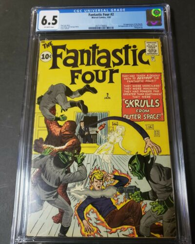 FANTASTIC FOUR 2 CGC 65 Marvel Comics 1st appearance of Skrulls Key book