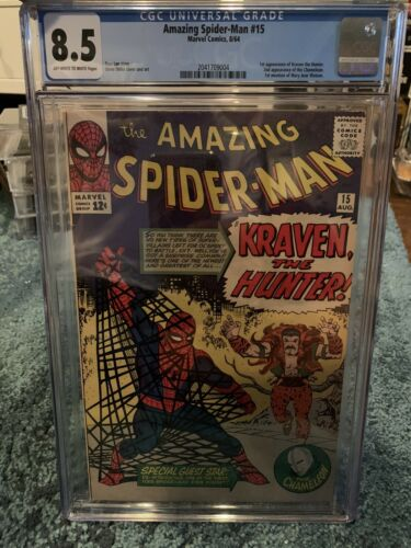 The Amazing SpiderMan 15 Marvel First Appearance Of Kraven The Hunter CGC 85
