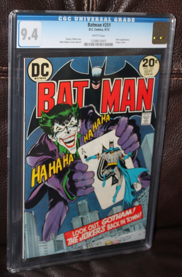 Batman 251 CGC 94 White Pages Classic Neal Adams cover art