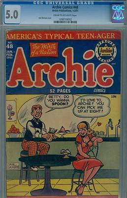 1951 Archie Comics 48 CGC 50 OW Betty Veronica Reggie Jughead Wilbur Taffy Art