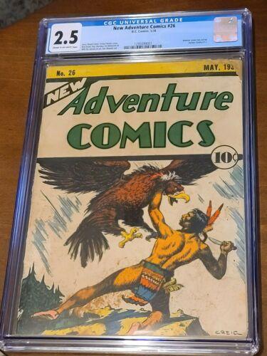 New Adventure comics  26 cgc Ad for action  comics 1