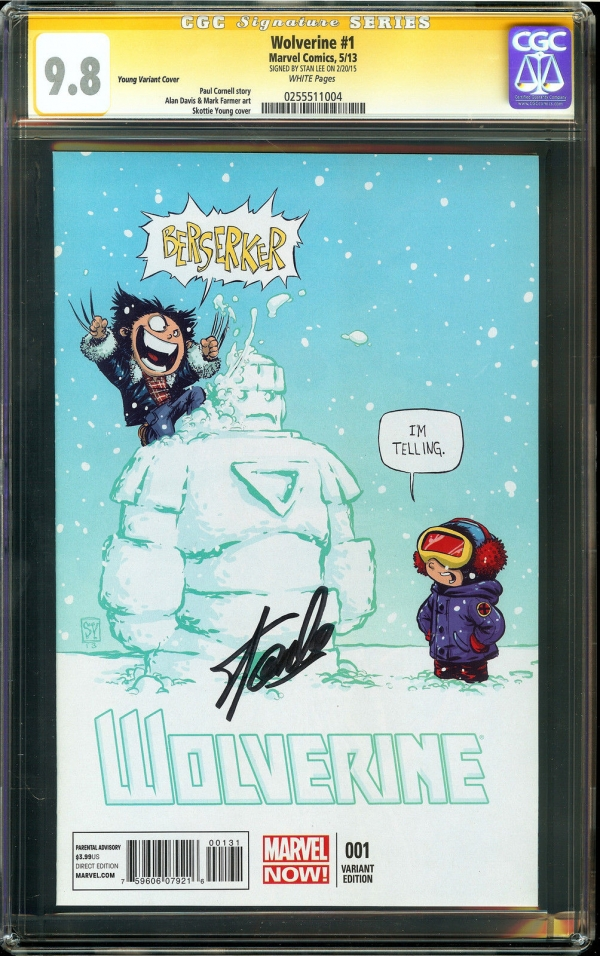 Wolverine 1 CGC 98 NMMT SIGNED STAN LEE Farmer art Young Variant Cover Marvel