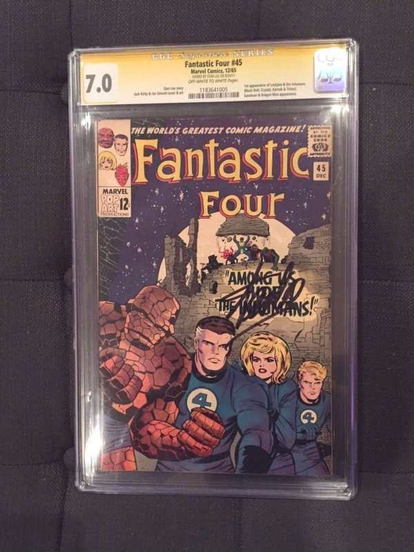 Fantastic Four 45 CGC 70 Stan Lee Signature Series Dec 1965 Marvel