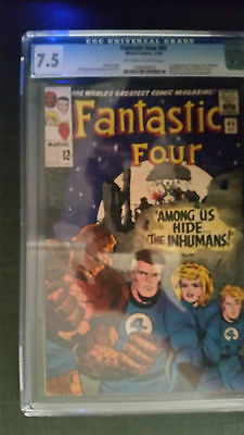 FANTASTIC FOUR 45 COMIC 1965 1st Inhumans CGC 75       CHEAPEST ON EBAY