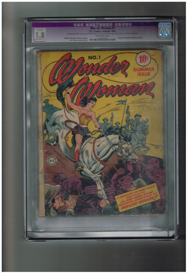 WONDER WOMAN V1 1 CGC Graded Key Gold Age issue Great find