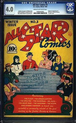 All Star Comics 3 CGC 40 Golden Age Key DC Comic 1st Justice Society IGKC LK
