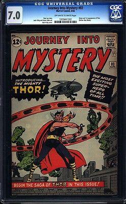 Journey Into Mystery 83 CGC 70 OWW Silver Age Key Marvel 1st App Thor LK