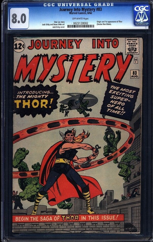 Journey Into Mystery 83 CGC 80 Silver Age Marvel Key Comic 1st Thor IGKC LK