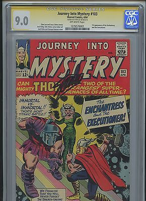 1964 Journey to Mystery 103 1st ENCHANTRESS CGC 90 Stan Lee AUTO Marvel not DC
