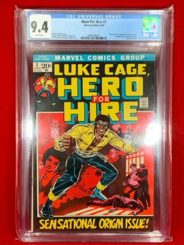 Luke Cage Hero For Hire 1 1972 CGC 94 NM 1st Appearance Luke And Diamondback