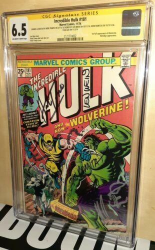 CGC 65 Incredible Hulk 181 ss Stan Lee Len Wein John Romita Sr Trimpe Sketch
