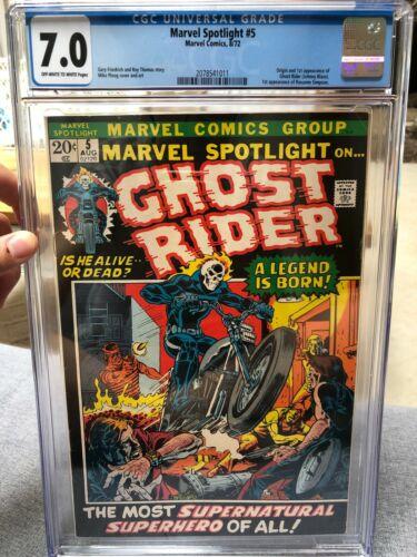 Marvel Spotlight 5 CGC 70 Origin and 1st app of Ghost Rider