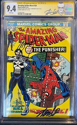 Amazing SpiderMan 129 CGC 94 NM SIGNED 3x STAN LEE ROMITA CONWAY Hulk App