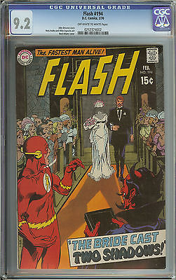 FLASH 194 CGC 92 OWWH PAGES  NEAL ADAMS COVER