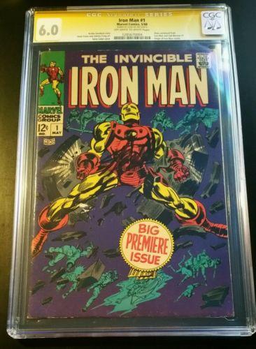 Iron Man 1 1968 Signed Stan Lee Autograph Marvel Comic CGC 6