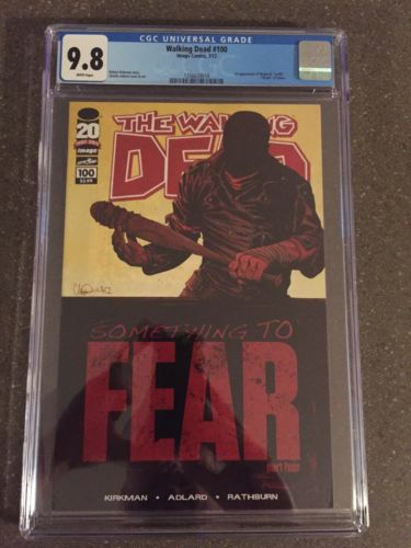 The Walking Dead 100 CGC 98 1st print 1st Appearance Negan  Lucille