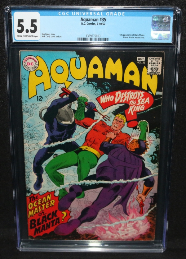 Aquaman 35  1st Appearance of Black Mantra  CGC Grade 55  1967