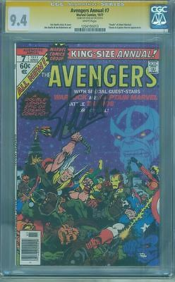 Avengers Annual 7 CGC SS 94 Stan Lee Signed Thanos Movie Jim Starlin 1977 no 8
