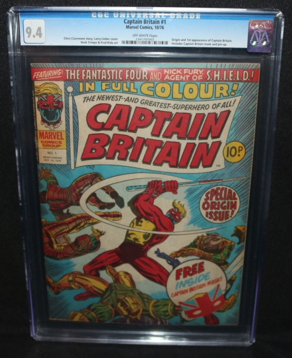 Captain Britain 1  Origin  1st App of Captain Britain  CGC Grade 94  1976