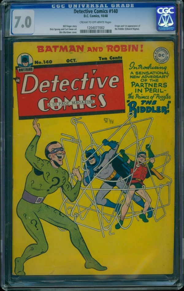 Rare Collectors Comics | Detective Comics 140 CGC 70 Golden