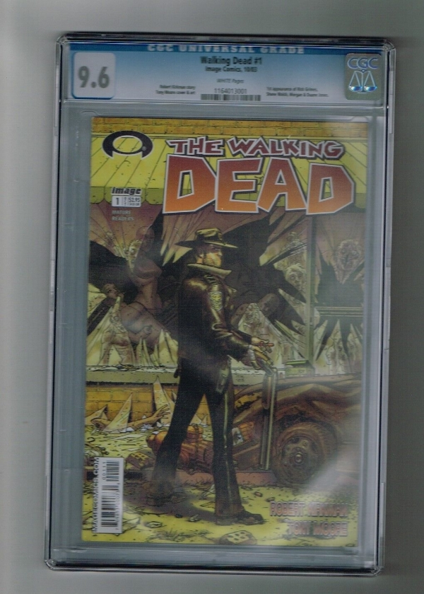 WALKING DEAD 1 CGC 96 First print Key issue 1st Rick Shane Morgan  Duane