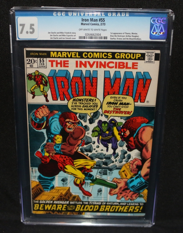 Iron Man 55  1st App of Thanos and Drax the Destroyer  CGC Grade 75  1973