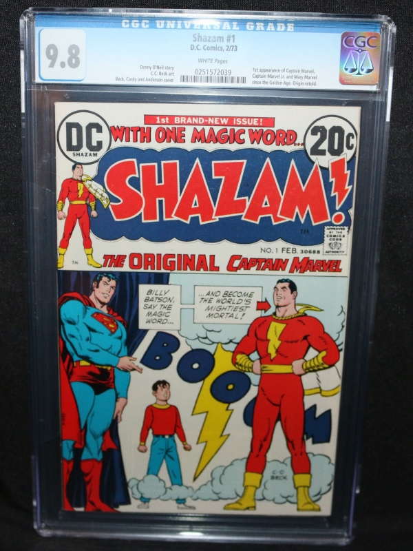Shazam 1  1st App of Captain Marvel since Golden Age  CGC Grade 98  1973