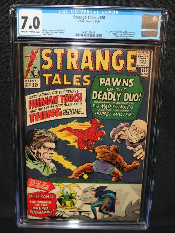 Strange Tales 126  1st Appearance of Clea  Dormammu  CGC Grade 70  1964