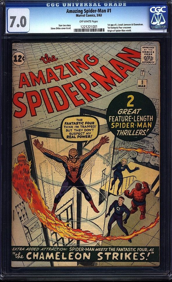 Amazing Spiderman 1 CGC 70 OW Silver Age Key Marvel Comic 1 Issue IGKC LK