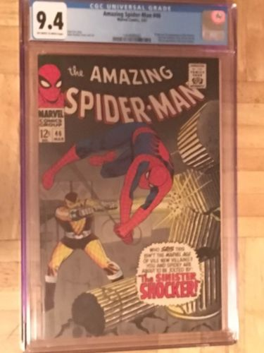 AMAZING SPIDERMAN 46 CGC 94NM1ST SHOCKER MOVIEBOLAND BROTHERS COLLECTION