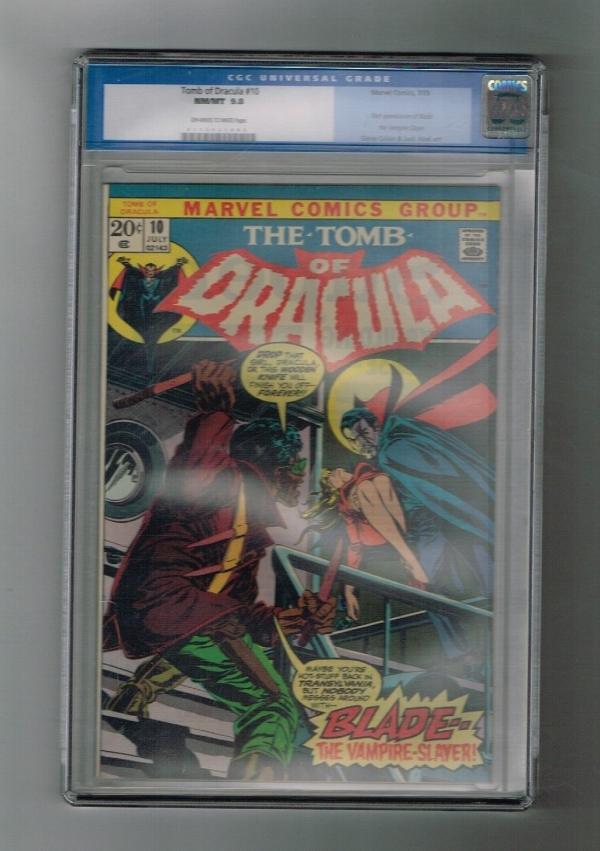 TOMB OF DRACULA 10 CGC Grade 98 Fun Bronze Age key 1st BLADE appearance