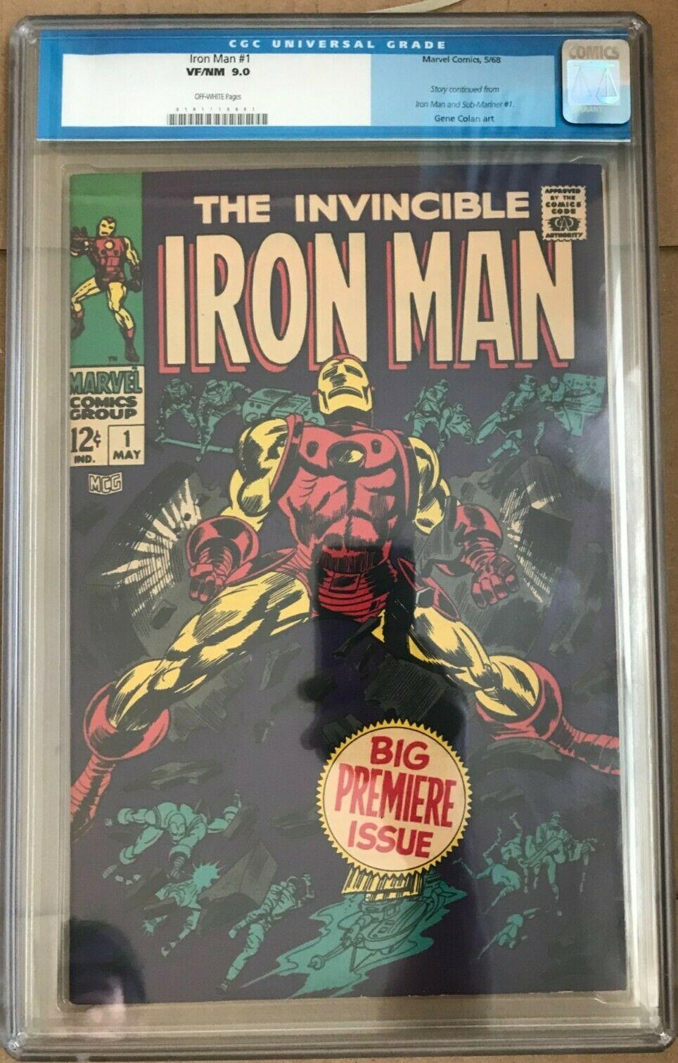 Iron Man Full Run 1318 Lot 68 1 CGC 90 2 92 Rest FNNM 55 VF 1st Thanos
