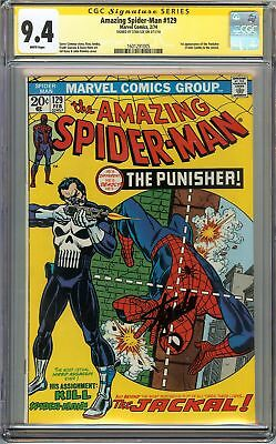 Amazing SpiderMan 129 CGC 94 NM SIGNED STAN LEE 1st App PUNISHER Romita Cover