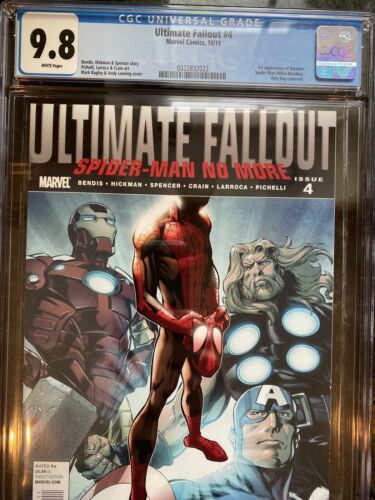 Ultimate Fallout 4 October 2011 Marvel CGC 98 1st Print