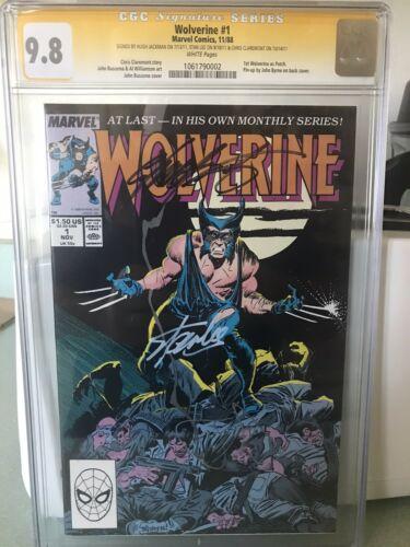 Wolverine 1 CGC SS 98 HUGH JACKMAN Stan Lee Claremont 1 Of 1 Triple Signed