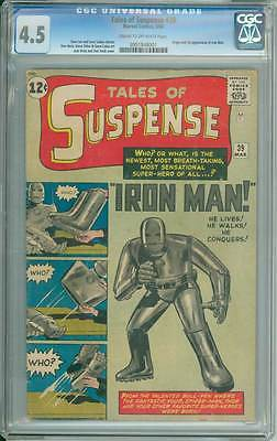 Tales of Suspense  39  First appearance Iron Man  CGC 45 movie scarce book