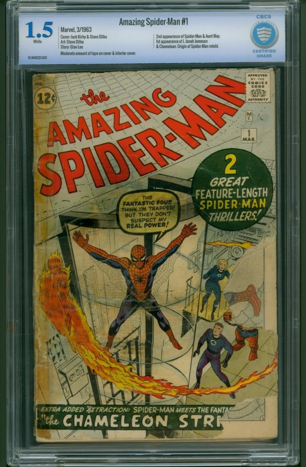 Amazing SpiderMan 1 1963 CBCS Graded 15  Jack Kirby  Stan Lee  Not CGC