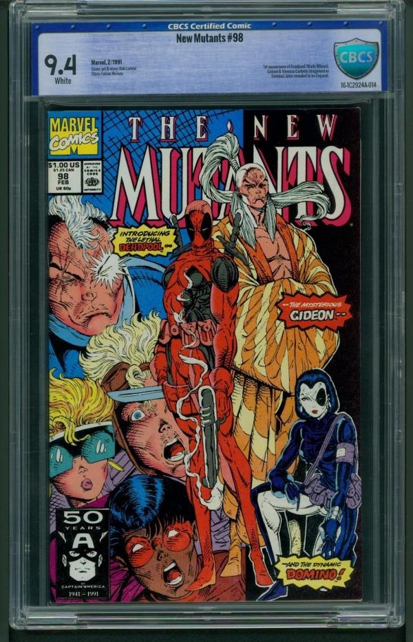 New Mutants 98 1991 CBCS Graded 94  1st Appearance Deadpool  Not CGC