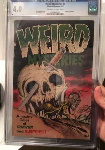 WEIRD MYSTERIES 4  CLASSIC COVER KEY PRECODE HORROR  CGC 40  RARE