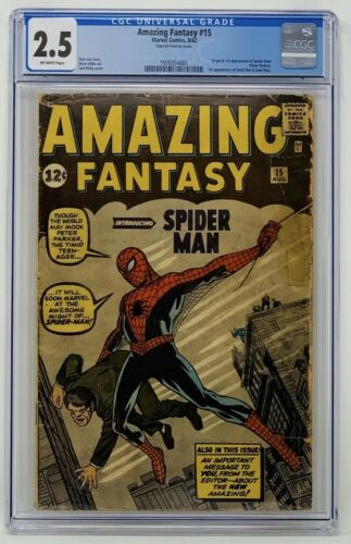Amazing Fantasy 15 CGC 25 Marvel 1962 Origin  1st Appearance of SpiderMan